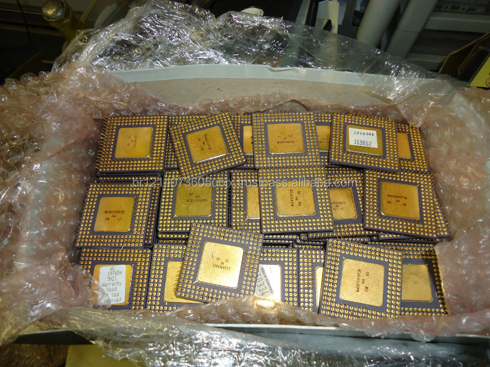 INTEL 486 PROCESSORS AND GOLD PINS FOR GOLD RECOVERY
