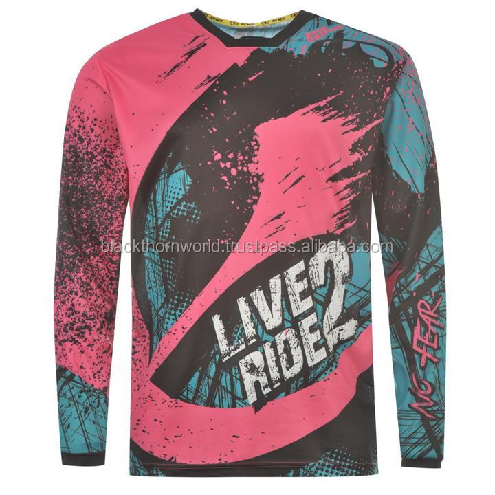 Wholesale motocross jersey, sublimation printed. Custom design and logo accepted