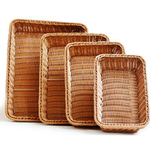 Rectangle Bread Rattan Basket Food fruit Basket