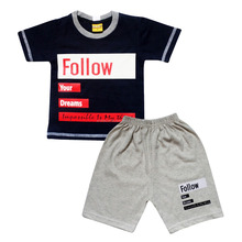 Everyday Clothing Sets Boys Wholesale Kids Clothes Short Sleeve T-shirt with Pants SKCO2553