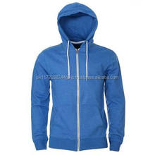wholesale all color zipper cotton with pocket hoodie man custom/2017 popular men 100% combed cotton hoodie full zipper low price