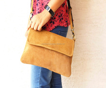 Suede Leather lady Hand bag and sling Bag and shoulder bag