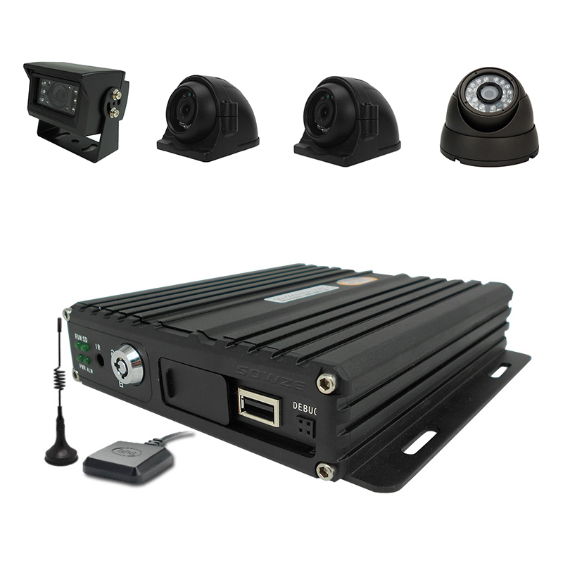 Mini 4 Channels <strong>Dvr</strong> 3G Vehicle Cctv Mdvr With Gps For Bus