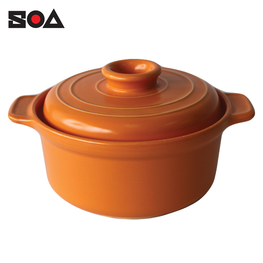 Europe & Japan style Home & Restaurant Use Soup Pot Cookware Kitchenware Soup Pot Casserole Hot Clay Ceramic Cooking Pot