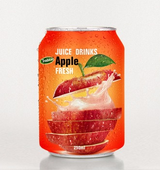 Special Fresh Apple juice in 250 ml short can from VietNam
