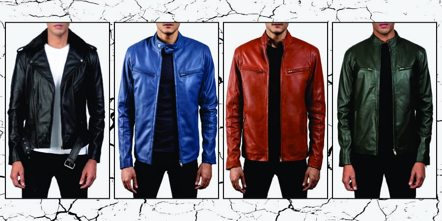 100% Genuine Leather Faux Shearling Coat Mens With Customized Design - Wholesale Price