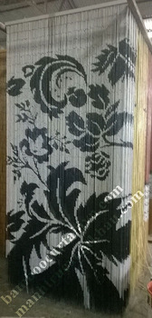 The various designs of door beads curtain floras paisley