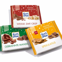 Ritter Sport Whole Hazelnuts, White and Crisp 100g