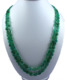 Emerald oval nuggets tumble beads Necklace with 925 Silver Claps 24""