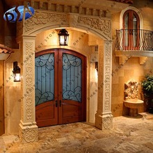 yellow sandstone hand carving main doors