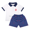 Cute anchor kids boy cotton clothes short set