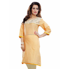 Exclusive Handmade Indian Cotton Plain Regular Wear Tops Kurti