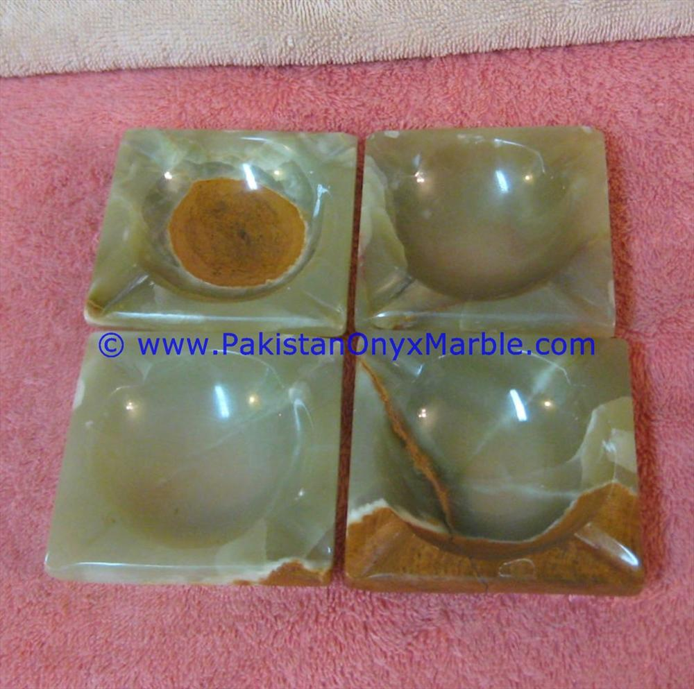 FACTORY PRICE ONYX CIGARETTE ASHTRAYS GREEN ONYX
