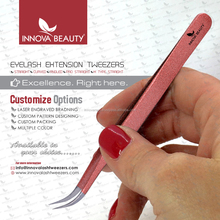 Stainless Steel Strong Curved Tweezer with White Plain Coating/ Get Curved Tweezers Branded with Your Own Logos