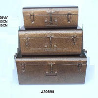 Iron Storage Trunks With In Antique