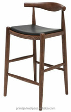 Scandinavian wooden bar stools