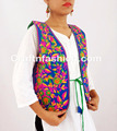 Women's Kutch embroidered Shrug-Waist coat- Navratri special Gujarati koti/Short jacket- Women Embroidered Mirror Work Jacket