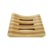 Natural Bamboo Wooden Bathroom Shower Soap Dish Storage Holder <strong>Plate</strong>