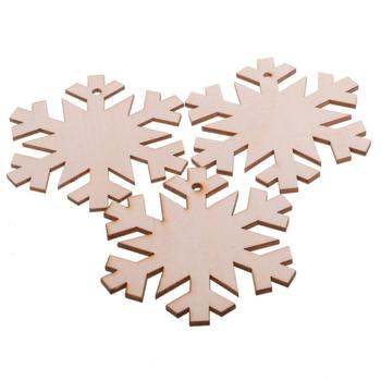 Snowflake Hanging Wood Christmas