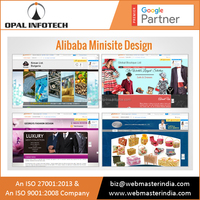 Top Notch Quality Alibaba Minisite Design India | Affordable Mini Site Design Services