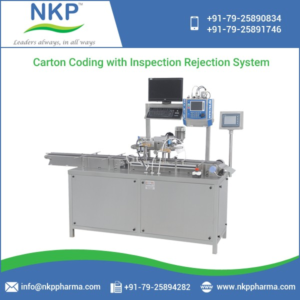 Carton Coding Machine with Inspection Rejection System at Reliable Price