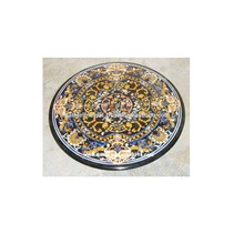 Round Stone Inlay Dining Table Tops