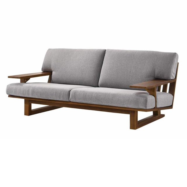 Modern Contemporary Wooden Sofa with Storage