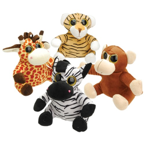 PLUSH BIG EYED ANIMALS/4-PC #SB627
