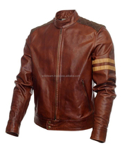 Distressed Brown Leather Jacket Top Quality Distressed Brown Leather Jacket