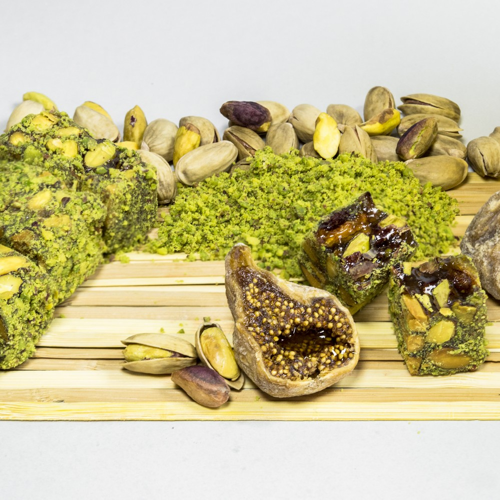 Turkish delight with pistachio/hazelnut/fruits/halal