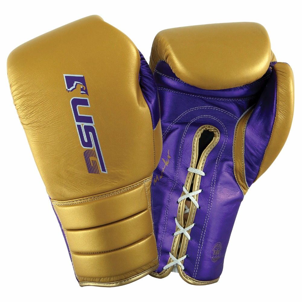 Professional Leather Boxing Fight Gloves Boxing MMA Sparring Training