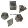 Labradorite 5pcs Geometry set : Wholesale Platonic Solid Crystal Set Supplier/By From Jilani