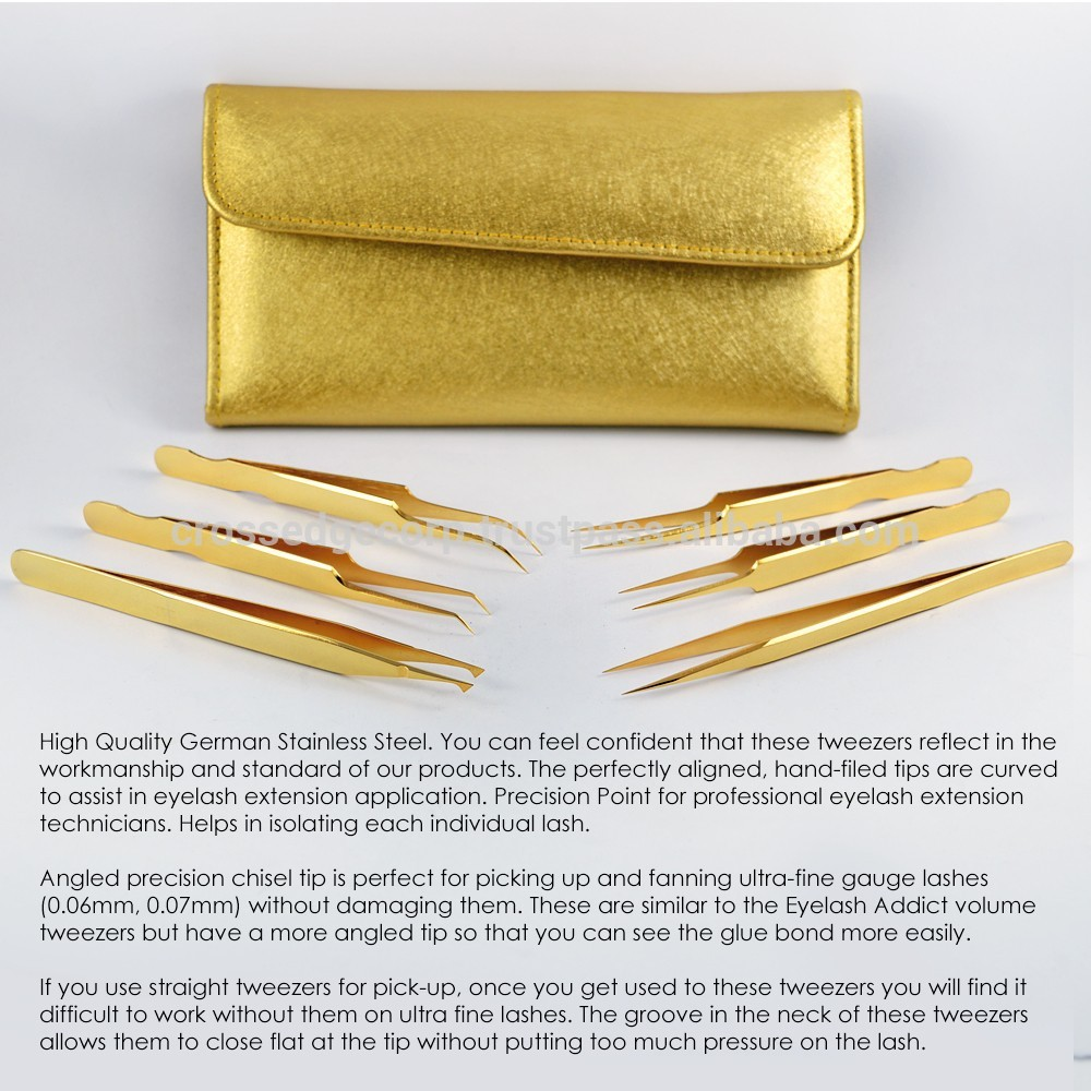 personalized tweezers/Eyelash Extensions Tweezers/ Gold plated Tweezers