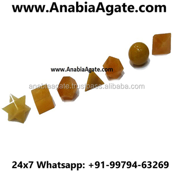 Yellow Aventurine Scared Geometry Set & Platonic Solid Sets