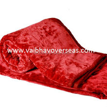 Embossed Mink blankets From India, Super Soft Mink Blankets Embossed