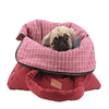 Latest promotion price foldable pet dog carrier bags WithBag Red