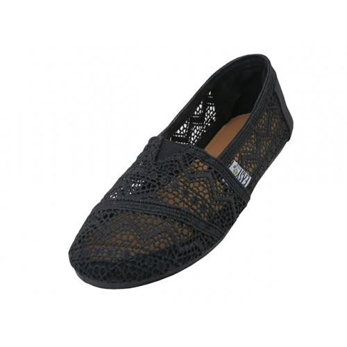 Crochet Lace Upper Casual Canvas Shoe