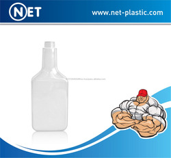 PET long neck flat 350ml plastic fuel additive bottle for engine oil