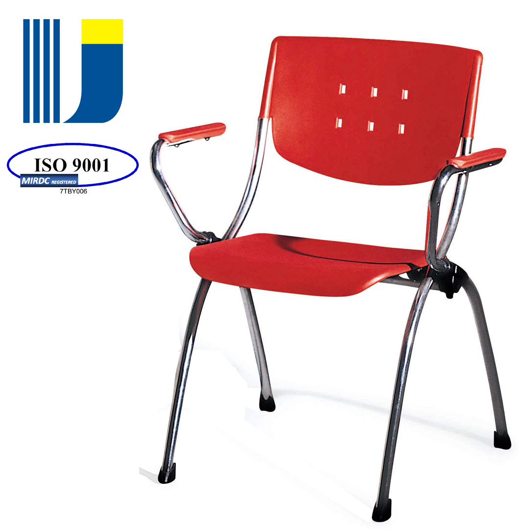 Plastic metal frame stackable connecting chair with 4 legs for meeting/conference/waiting/guest/side 31-P