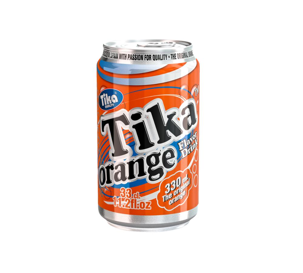 Tika carbonated Cola & Orange soft drink canned 4x6x33cl