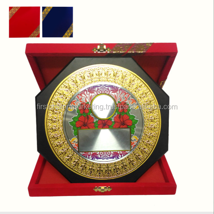 Malaysia Product High Quality Velvet Box Plaque Souvenir Award Trophy