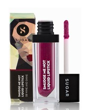 SUGAR Cosmetics Smudge Me Not Liquid Lipstick 08 Wine And Shine (Sangria), 4.5 ml