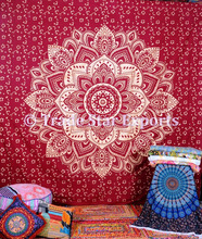 Indian mandala printed tapestries bulk large custom tapestry wall hangings