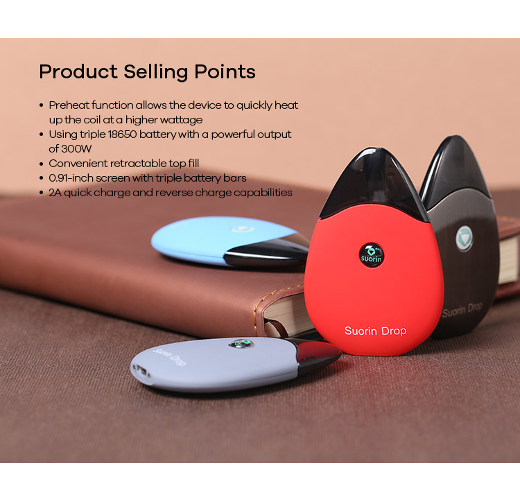 Wholesale price for Revolutionary design Suorin Drop Kit with immediate shipping