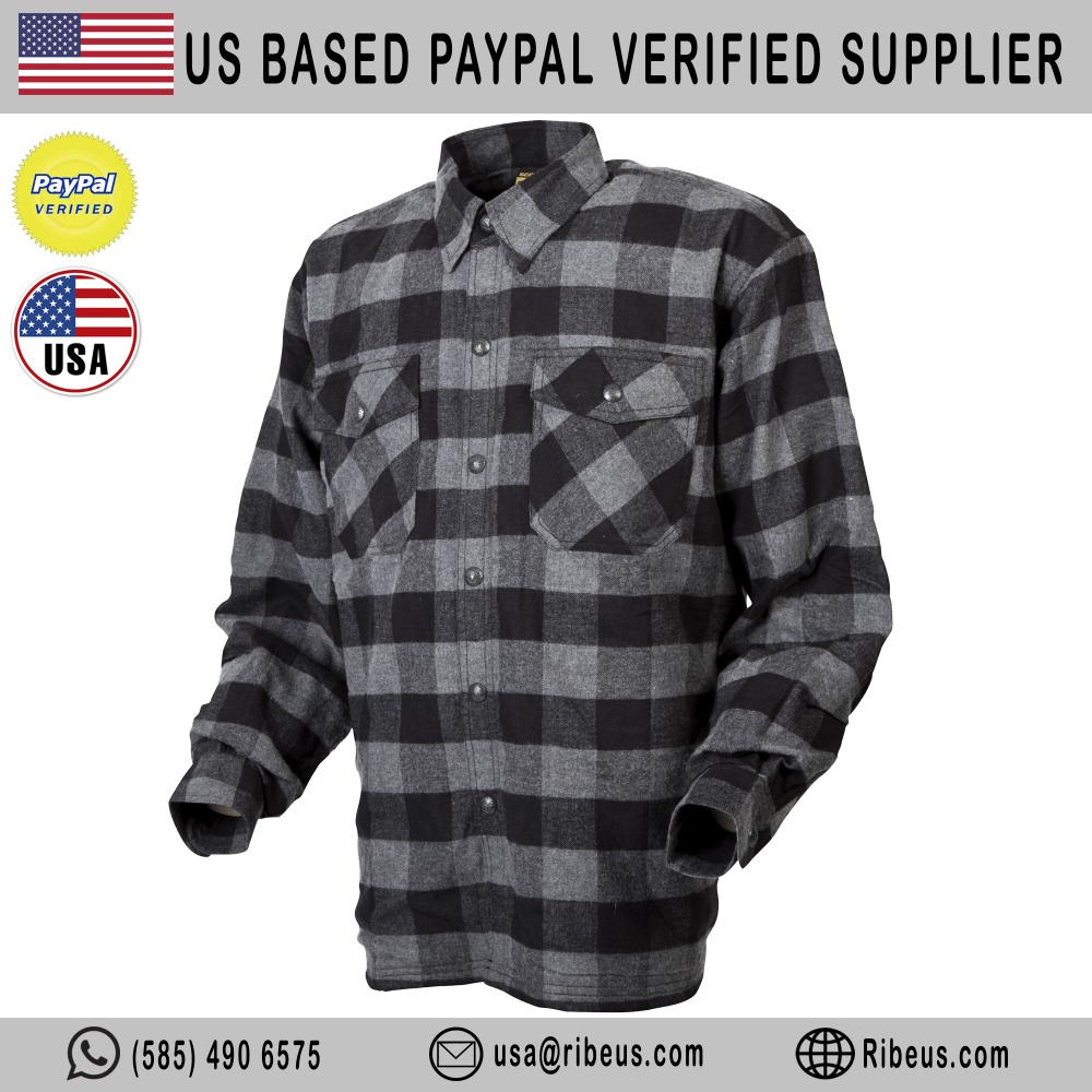 Customized Flannel Kevlar Motorcycle Shirt , Motorcycle Jacket