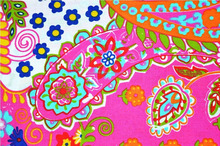 Beautiful paisley printed fabric Indian wholesale natural cotton pink running fabric