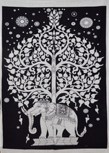 "Indian 2017 latest elephant tree wall hanging cotton poster handmade cotton tapestries yoga mat size 40"" X 30"""
