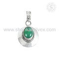 Spanking look green onyx gemstone pendant handmade jewelry 925 sterling silver pendants wholesale supplier