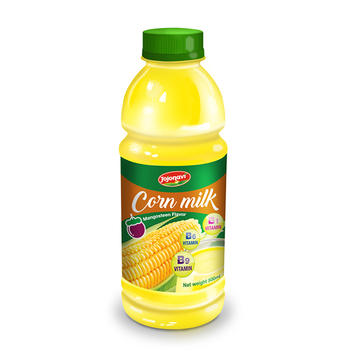 500ml PET Bottle Wholesale Corn Milk With Mangosteen Flavour