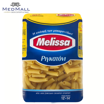 Melissa Rigatoni Short Pasta - Excellent Quality Grain Macaroni Food Product